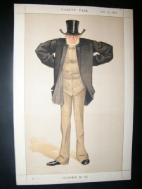 Vanity Fair Print 1872 Joseph Cowen, Cartoon